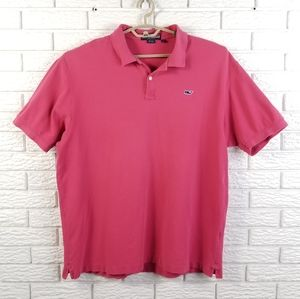 Vineyard Vines Pique Polo Shirt XL Bright Pink